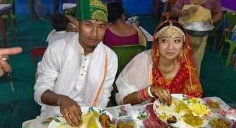 NEFU Player Holicharan Narzary Ties Knot With Geetanjali Deori