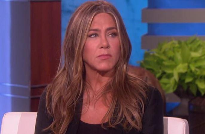 Actress Jennifer Aniston, Ellen DeGeneres Seal Friendship with a Kiss