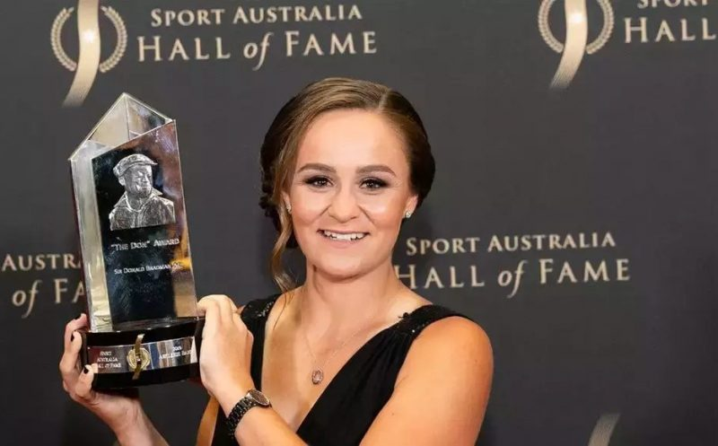 Ashleigh Barty Wins 'The Don' Award, Recognized as Oz's Top Athlete
