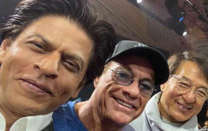 Shah Rukh Khan Poses with his 'Heroes' Jackie Chan, Van Damme
