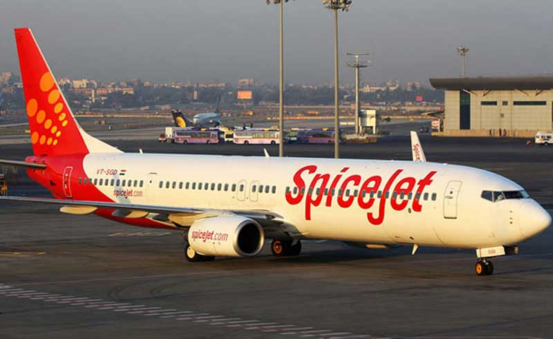 Banner with 'No cracker'Logo Row for SpiceJet at Madurai Airport