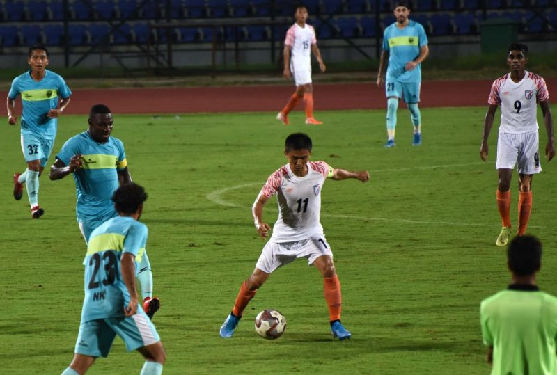 NEUFC Hold National Team 1-1 Draw In Friendly