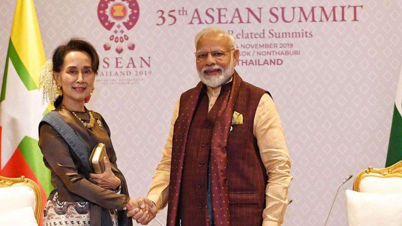 Narendra Modiand Aung San Suu Kyi Discuss Border Demarcation