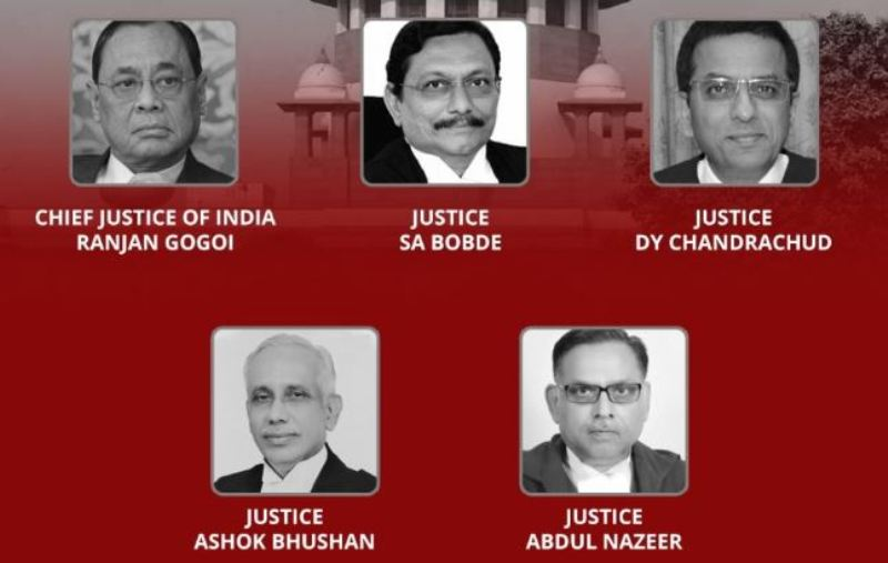Five Judges of Supreme Court who Delivered the Ayodhya Verdict