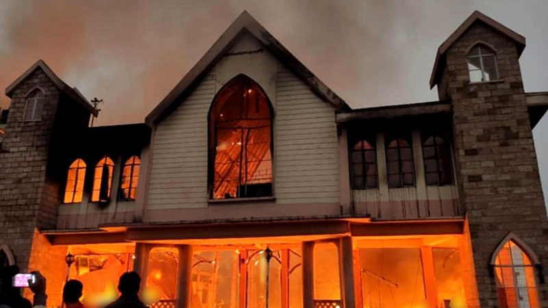 Historic Church of God gutted; Inferno claims 2 Lives