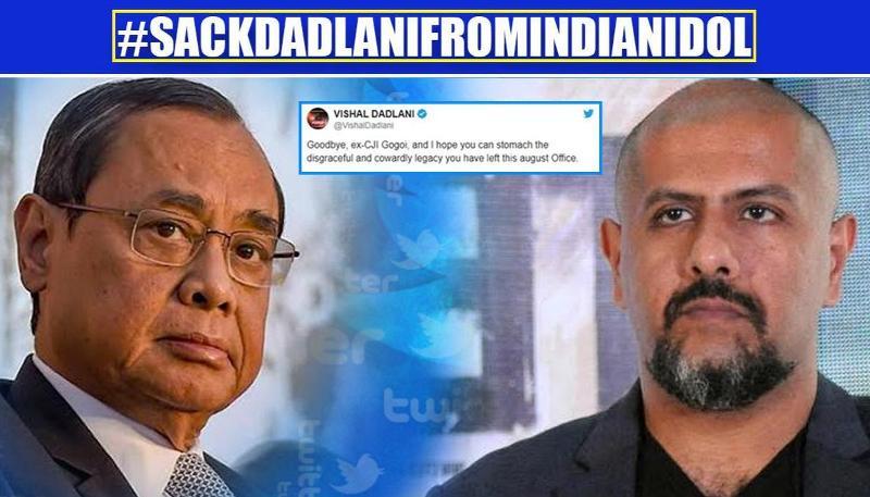 #SackDadlaniFromIndianIdol hastag trends after Vishal Dadlani demeans ex-CJI Ranjan Gogoi