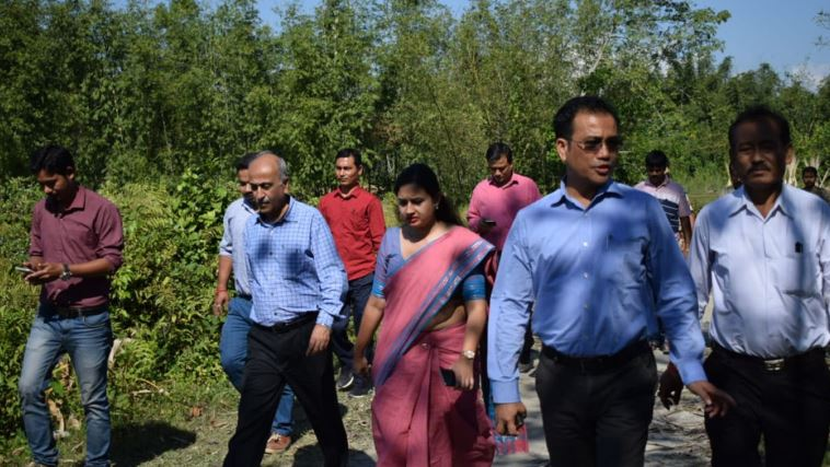 Inter-Ministerial Central Team visits Flood-affected areas in Chirang District