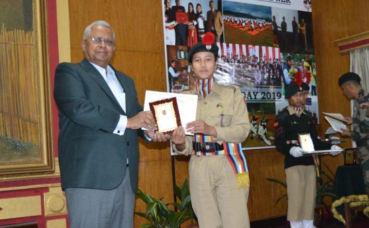 NCC Day celebrated in Raj Bhawan, Shillong