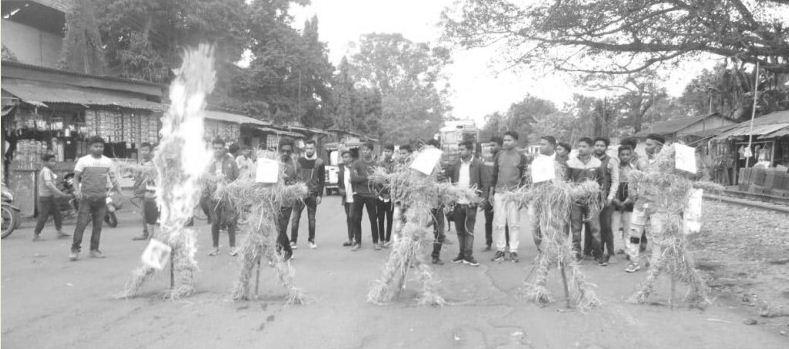 ATTSA burns effigies of MPs, MLAs over CAA in Doomdooma