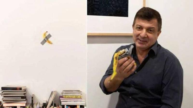 Artist eats $120,000 banana artwork