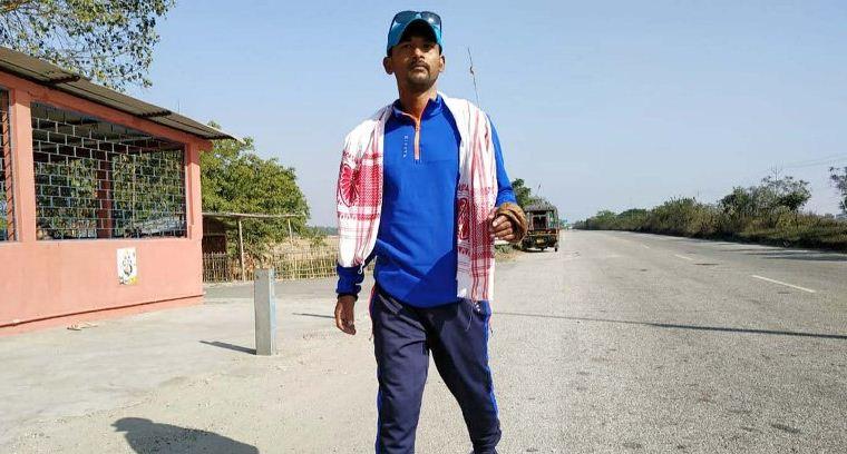Bajali youth Khanin Roy walks to spread awareness about drug addiction