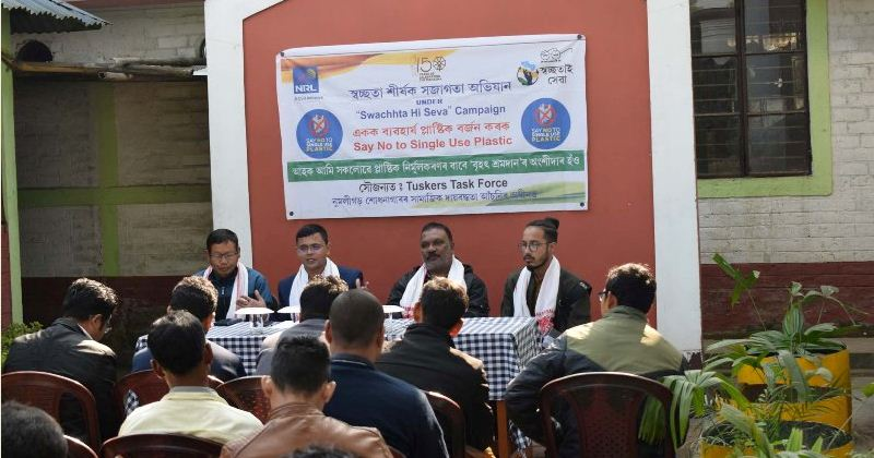 Mass cleanliness drive and awareness campaign against single-use plastic in Golaghat