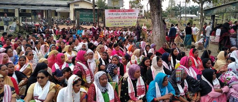 Women stage sit-in protest against CAA in Doomdooma
