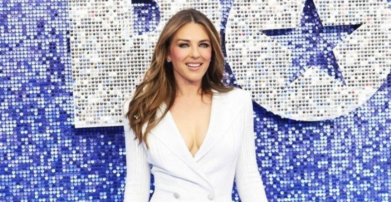 Elizabeth Hurley keeps her body toned by doing manual labour