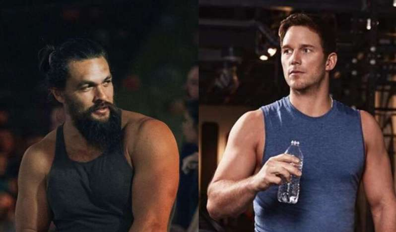 Jason Momoa scolds Chris Pratt for using plastic bottle