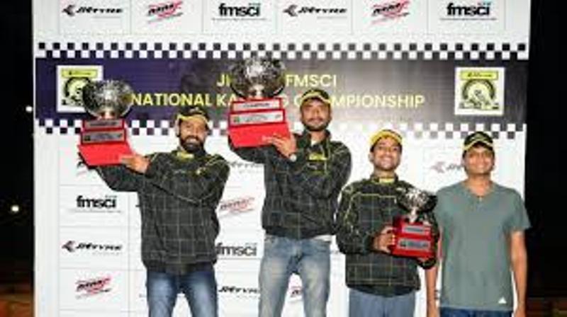 Karthik Muthusamy, Aditya Raja claim JK Tyre National Karting C'ship