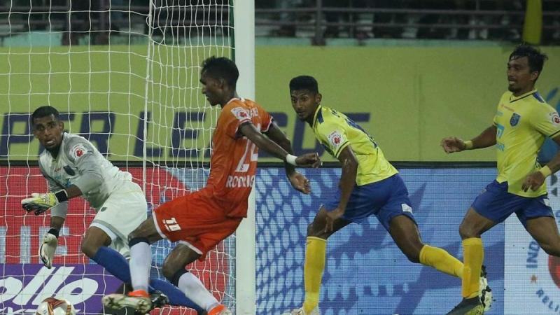 Injury-time goal sees Goa rescue a point in Kerala Blasters FC