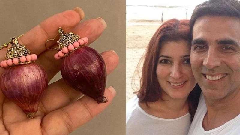 Akshay gifts onion earrings to wife Twinkle