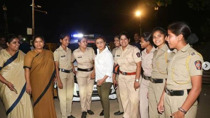 Rani Mukerji meets special night patrol police team