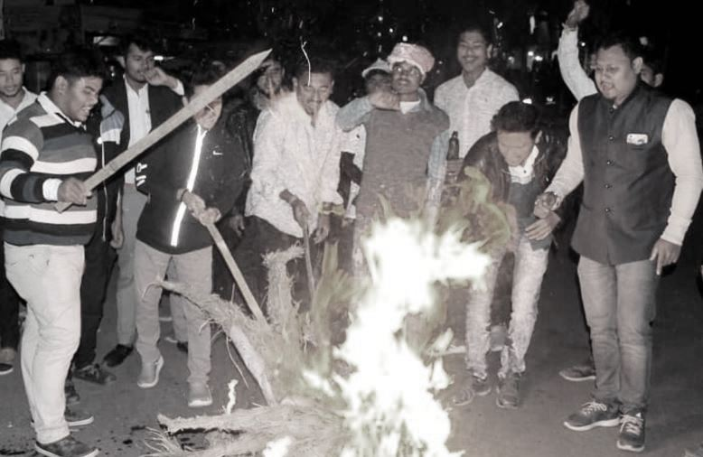 Agitation against CAB continues in Lakhimpur; AASU activists 'assaulted'