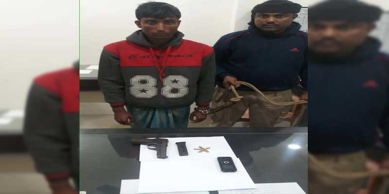 Darrang Police arrested one with arms in Mangaldai