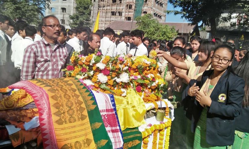 Former BSS president Brajendra Kr Brahma laid to rest in his native village