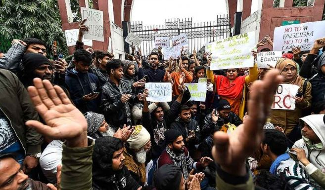 Protests in Srinagar over CAA, National Register of Citizens