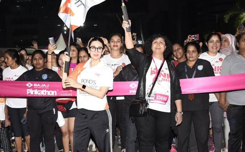 Tahira Kashyap, Karisma Kapoor root for women fitness at Pinkathon