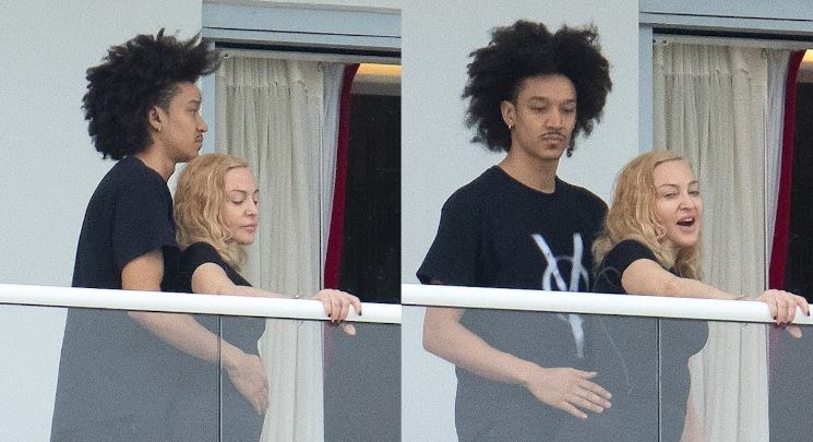 Singer Madonna cozies up to dancer Ahlamalik Williams