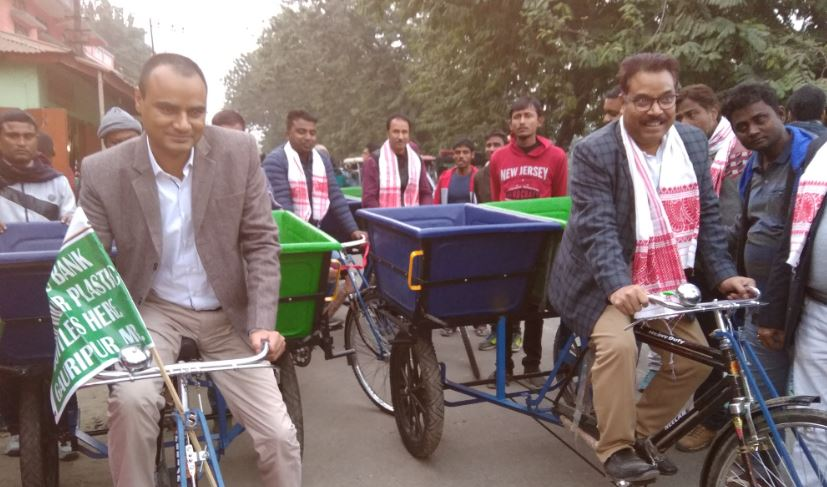 12 tricycles for collecting door-to-door garbage flagged off in Dhubri