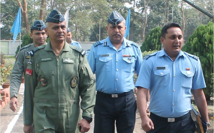 Air Marshal RD Mathur visits Air Force Station Missamari in Sonitpur district