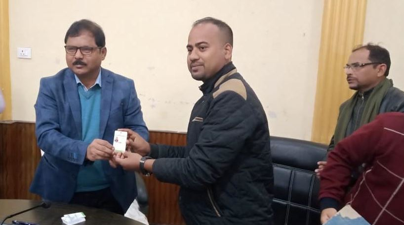 DIPR, Golaghat district distributes accreditation cards to journalists