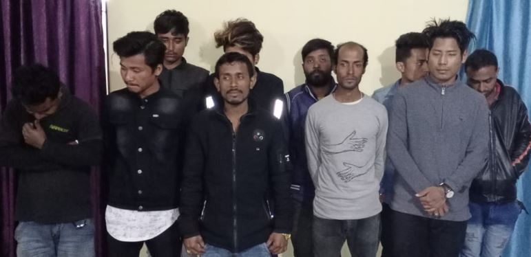 Heroin worth Rs 2 lakh seized, 10 arrested in Naharkatia