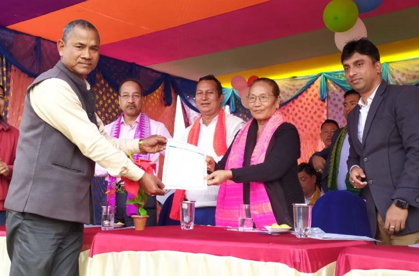 Minister Pramila Rani Brahma distributes land pattas to 616 beneficiaries