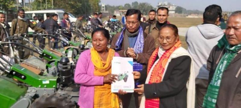 Power tillers distributed among beneficiaries in Kokrajhar