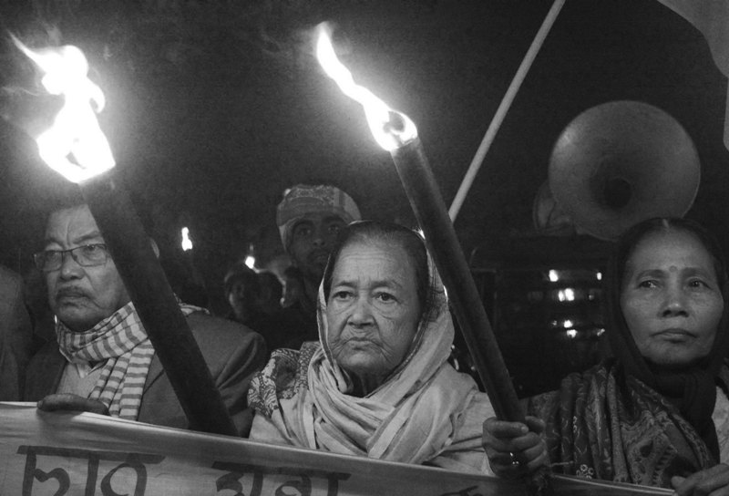 AASU, 30 indigenous organizations took out massive torchlight rally in Demow