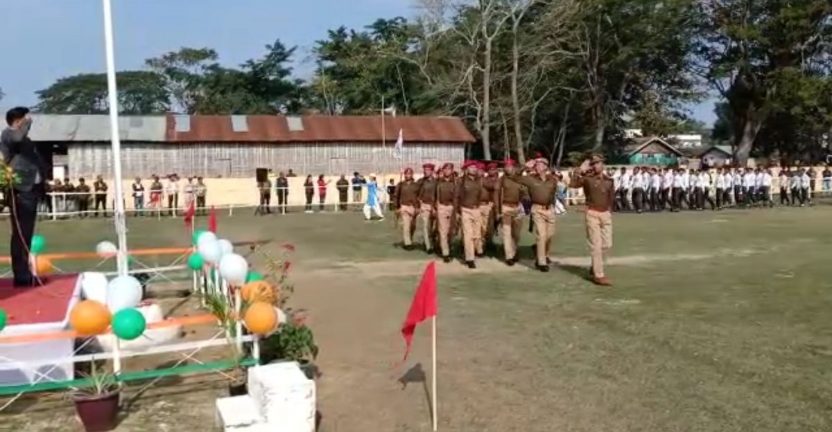 71st Republic day observed in Sarupathar, SDO (civil) greets people on the occasion
