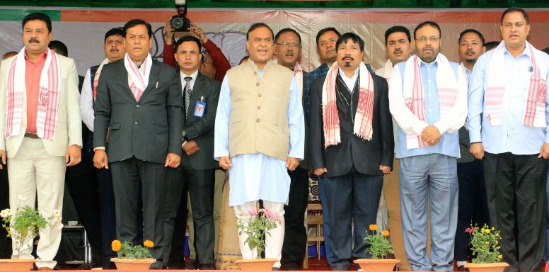 Bharatiya Janata Party-Asom Gana Parishad's Sankalp Samawesh at Bokakhat