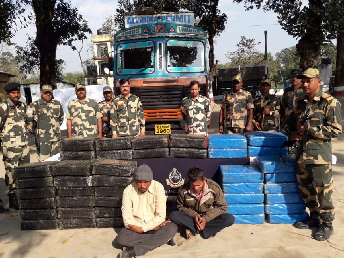 BSF apprehended two drug peddlers in Coochbehar, Ganja worth Rs 49,990 seized