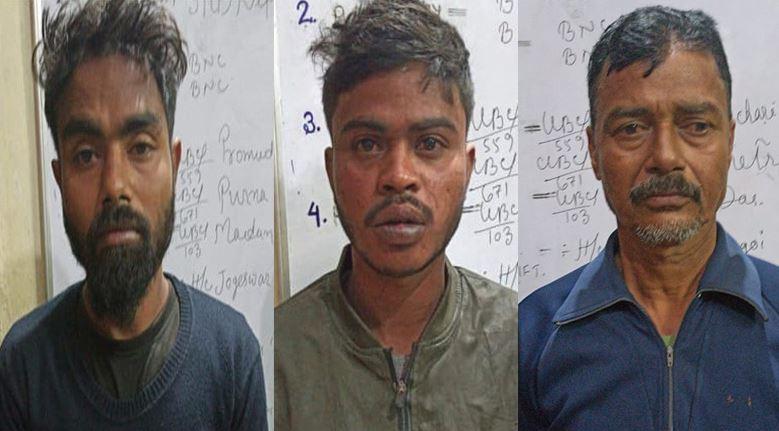 Three criminals apprehended by Tinsukia Police for burning 6 shops at Hijuguri