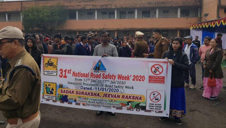 31st National Road Safety Week begins in Hailakandi district