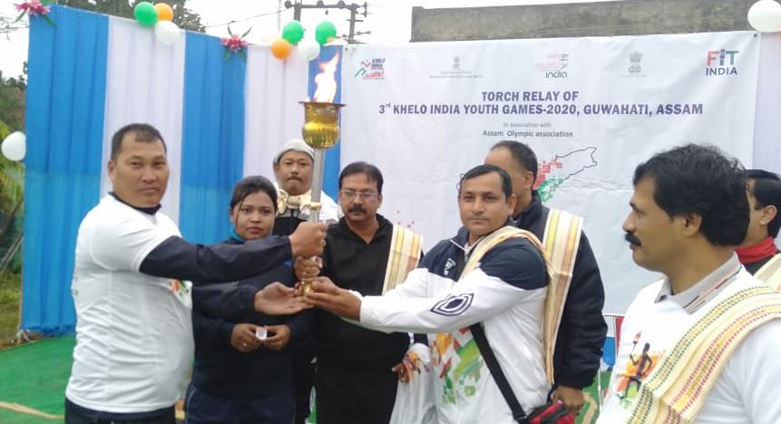 Torch relay of Khelo India Youth Games 2020 held in Hailakandi