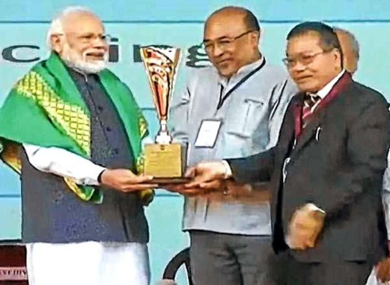 Manipur gets prestigious Krishi Karman Award for overall food grain production in 2017-18