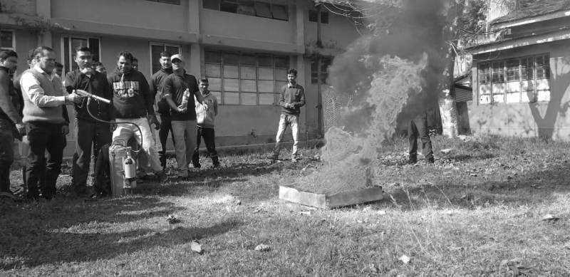 Mock drill for paramedics, staff of SK Roy Civil Hospital on safety measures in Hailakandi
