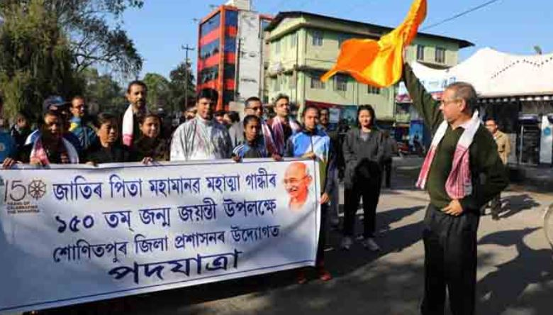 Padayatra flagged off from Church Field in Sonitpur
