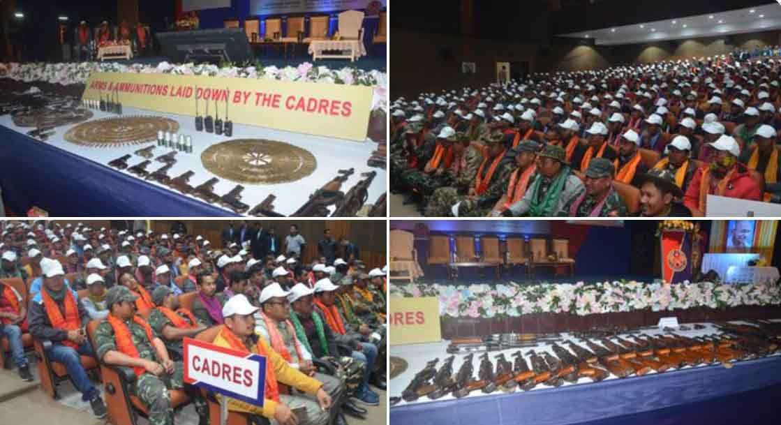 1500 cadres from NDFB faction surrender in Arms Laying Down Ceremony in Guwahati on Jan 30