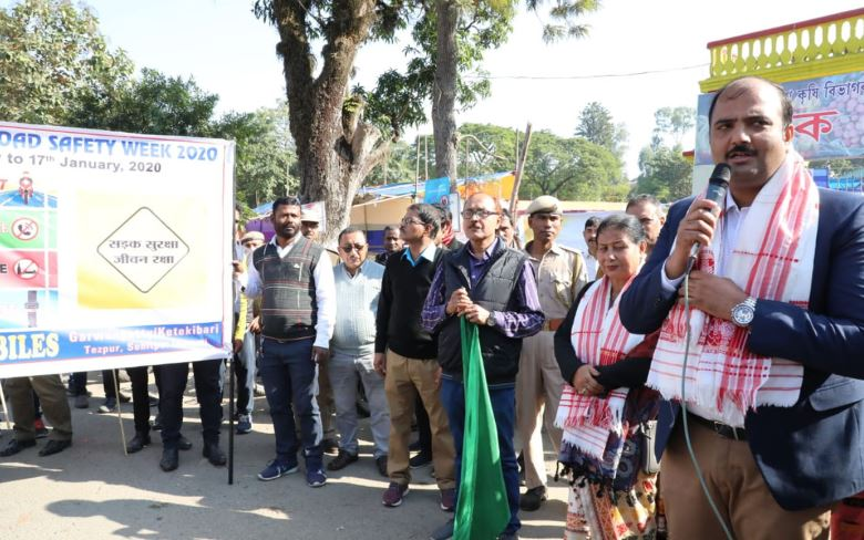 Walkathon to mark 31st Road Safety Week flagged off in Tezpur
