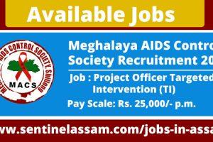 Meghalaya AIDS Control Society Recruitment