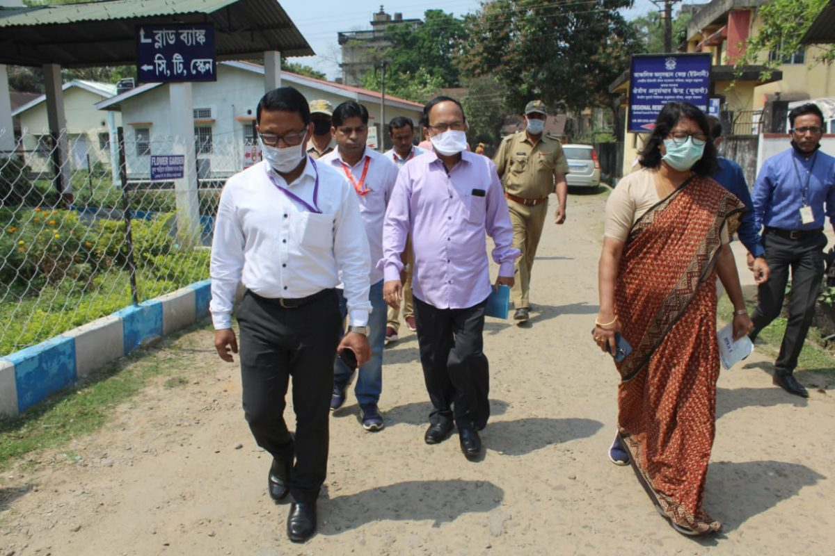 COVID-19 update: Deputy Commissioner of Cachar visit hospital to review preparedness