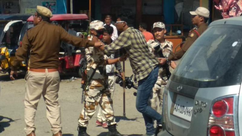AASU activists show black flag to Ranjeet Dass; four detained in Lakhimpur